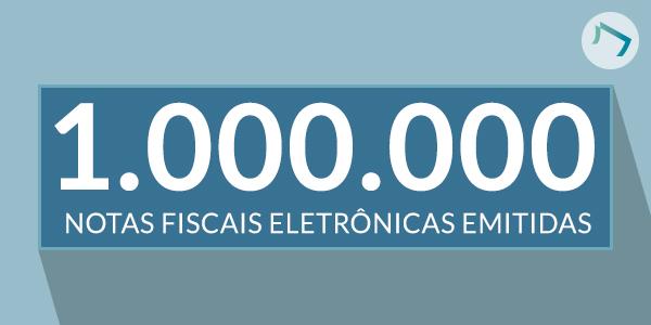 Um milhão de Notas Fiscais Eletrônicas!