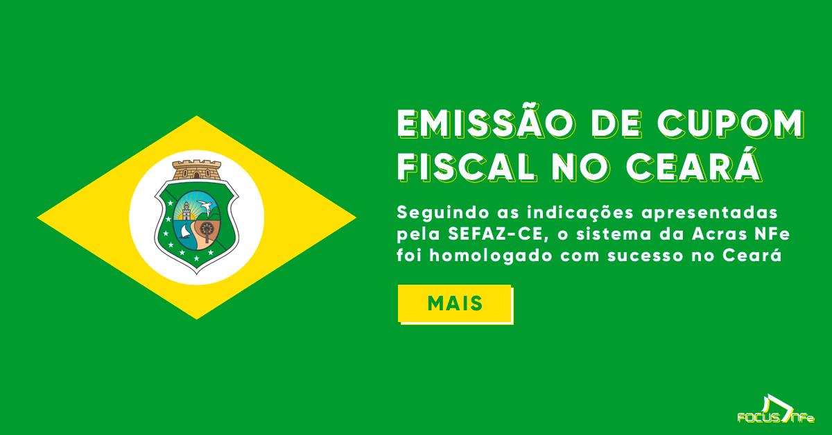 Emissão do Cupom Fiscal no Ceará