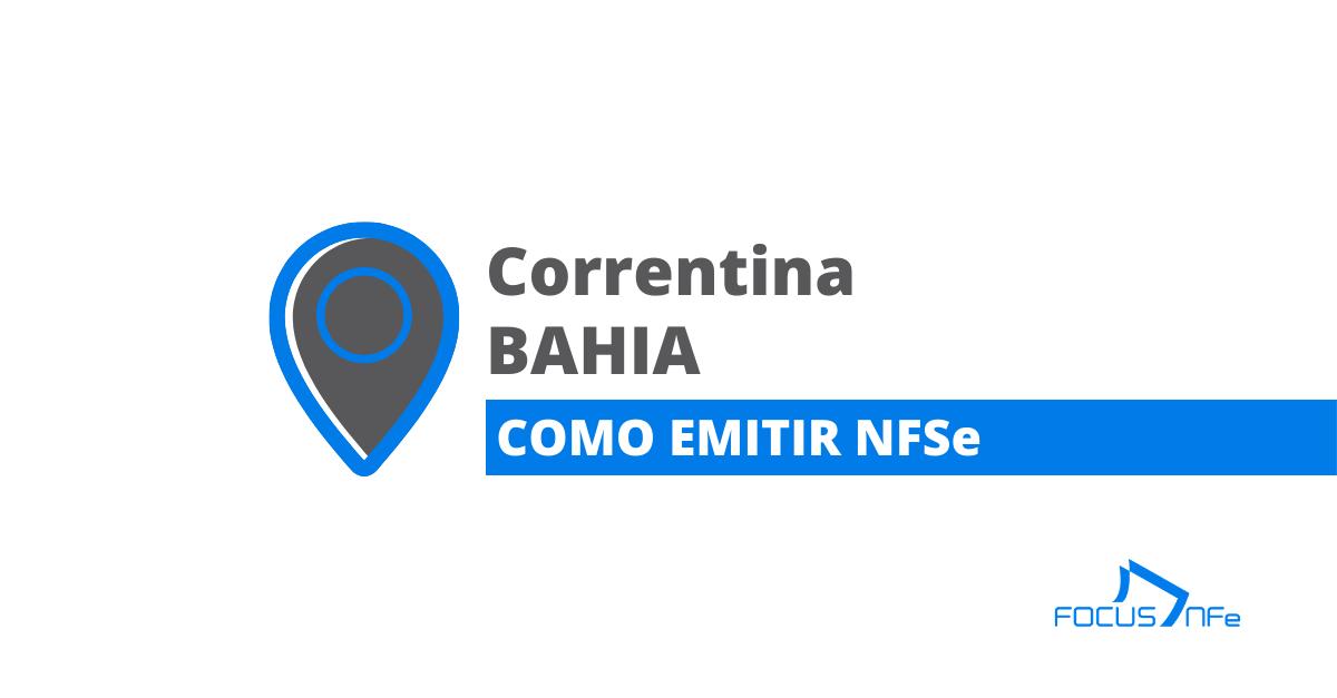 You are currently viewing Como emitir nota fiscal de serviço (NFSe) em Correntina – BA