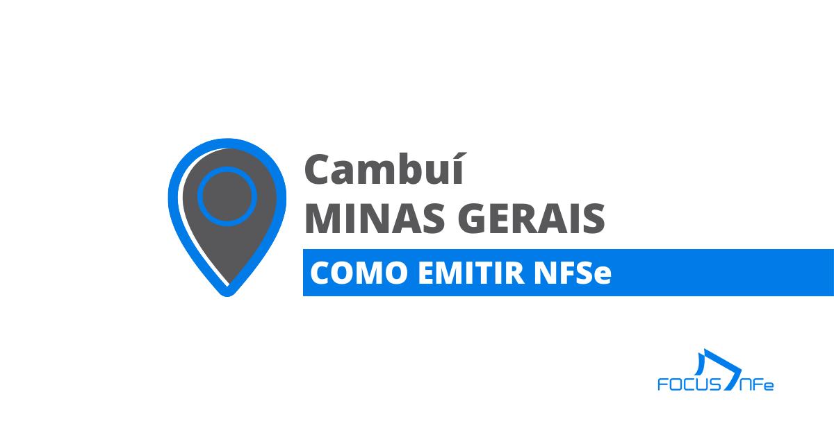 You are currently viewing Como emitir nota fiscal de serviço (NFSe) em Cambuí – MG